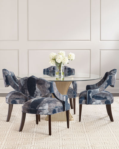 Evie Silver Dining Table and Matching Items