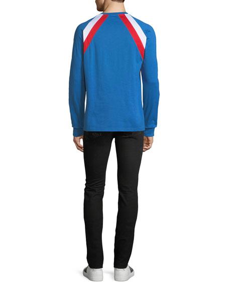 Men's Colorblock Long-Sleeve T-Shirt