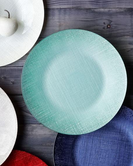 Glitter Glass Service Plate, Linen