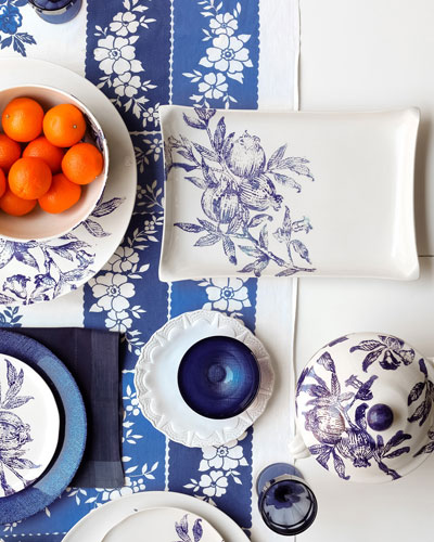 Melagrana Round Platter and Matching Items