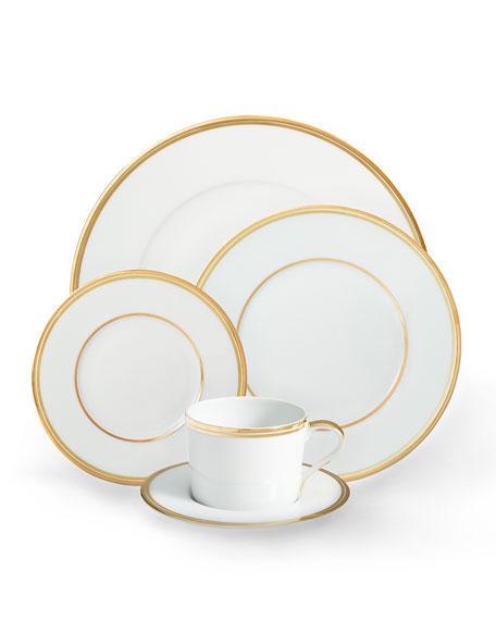 Wilshire Tea Cup and Saucer, Gold