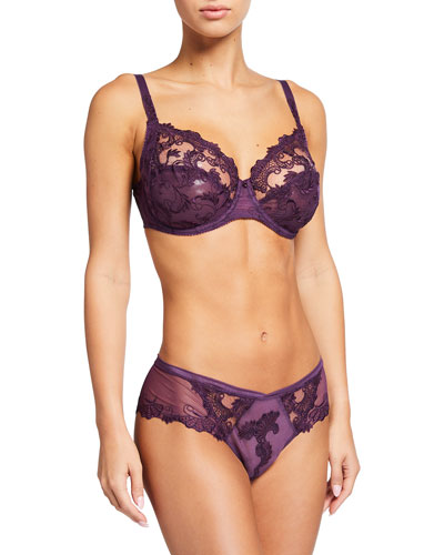Guipure Charming 3-Part Full-Cup Bra and Matching Items