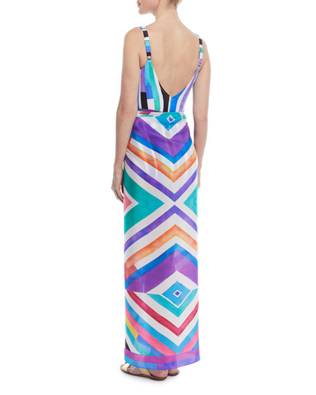 Carnival Printed Silk Coverup Pareo