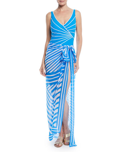 Sinatra Surplice One-Piece Swimsuit and Matching Items