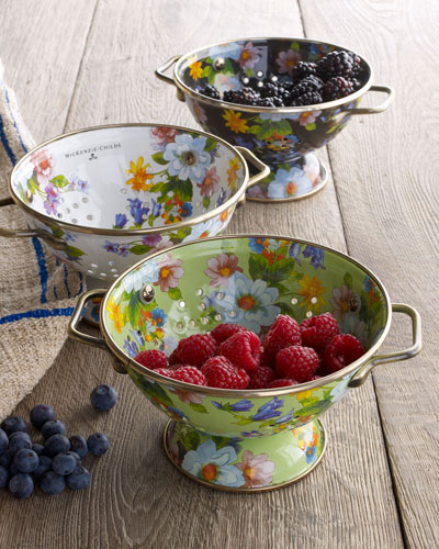 Small Flower Market Colander and Matching Items