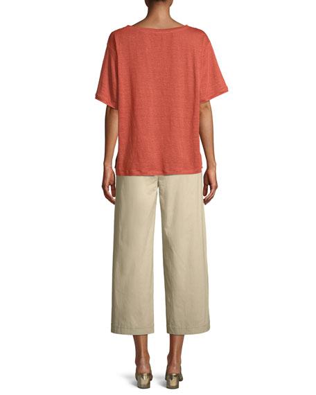 Short-Sleeve Linen Jersey Tee