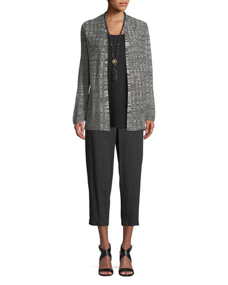 Fine Silk/Linen Bell-Sleeve Cardigan