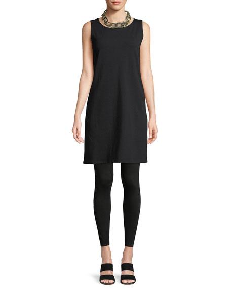 Sleeveless Bateau-Neck Shirtdress
