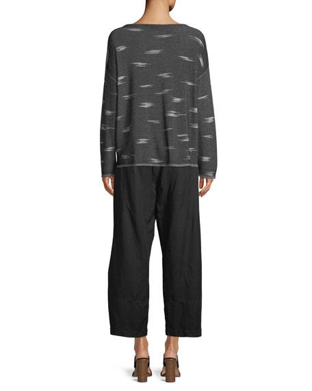 Pattern Tencel Sweater, Petite