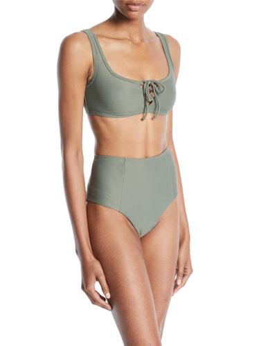 Erin Lace-Up Bikini Swim Top and Matching Items