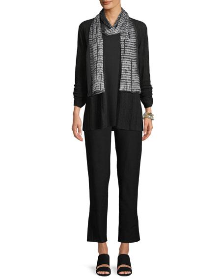 Fine Silk/Organic Linen Bell-Sleeve Cardigan