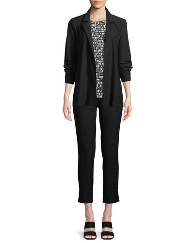 Washable Stretch Crepe Jacket and Matching Items