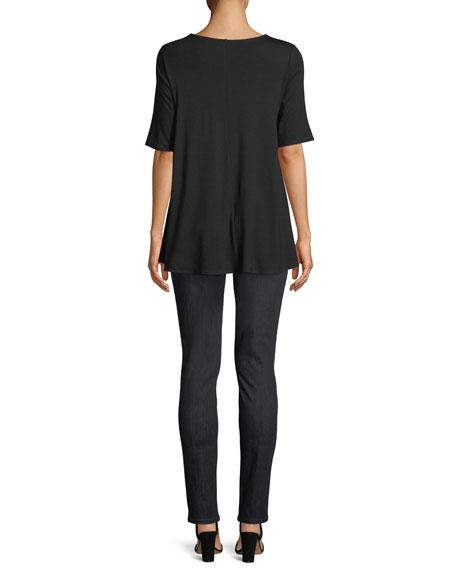 Short-Sleeve Jersey Tunic, Petite