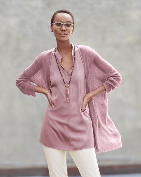 Organic Linen/Tencel Open Cardigan