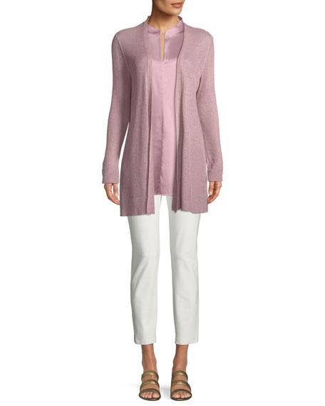Organic Linen/Tencel Open Cardigan, Plus Size
