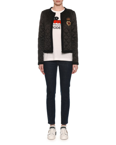 Zip-Front Quilted Jacket and Matching Items