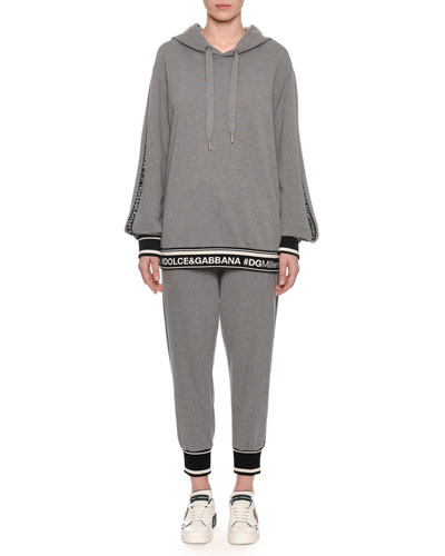DG Millennial Logo Long-Sleeve Hooded Oversized Sweatshirt and Matching Items