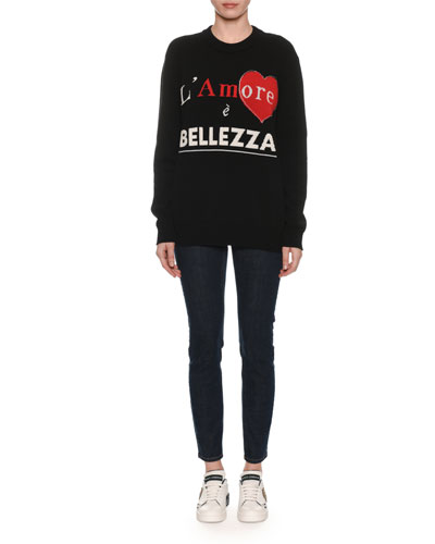 L'Amore e Bellezza Intarsia-Knit Cashmere Pullover Sweater and Matching Items