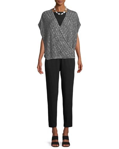 Silk-Blend Cap-Sleeve Sweater and Matching Items