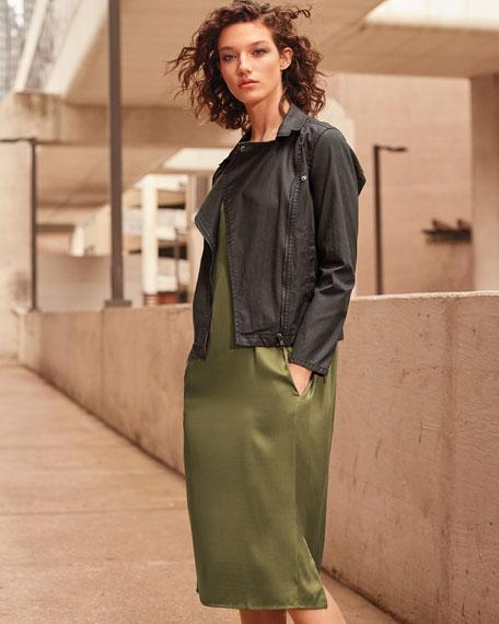 Waxed Organic Cotton Moto Jacket
