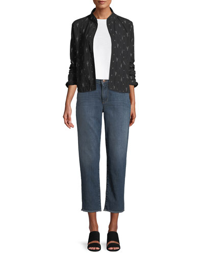 High-Rise Slim Frayed-Hem Ankle Jeans and Matching Items