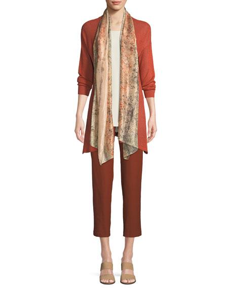 Organic Linen/Tencel Open Cardigan, Petite