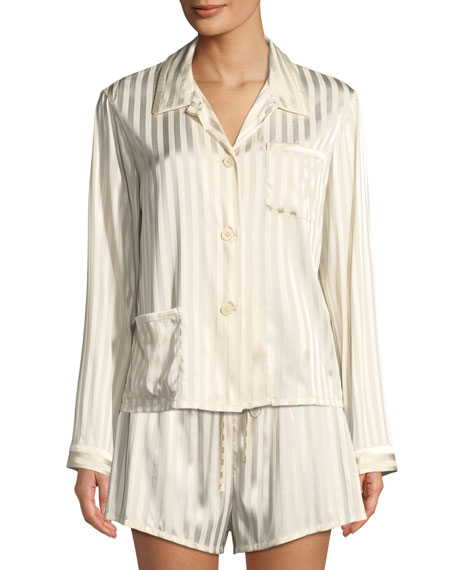 Ruthie Marle-Striped Pajama Top