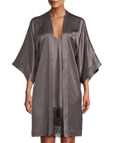 Silk Short Robe and Matching Items