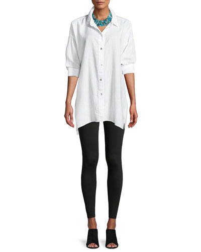 Crosshatch Classic Button-Front Big Shirt, Plus Size and Matching Items