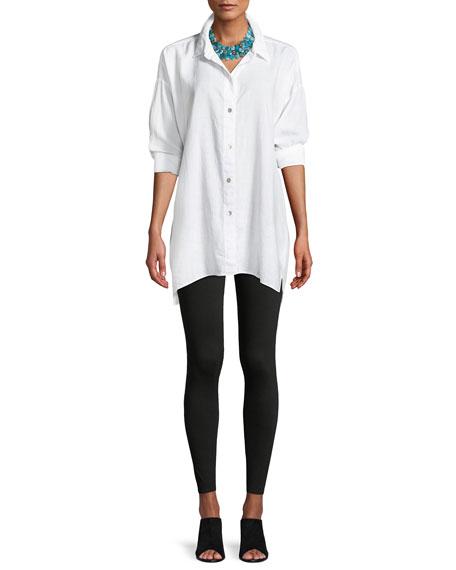 Crosshatch Classic Button-Front Big Shirt, Plus Size