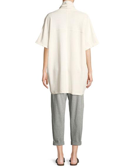 Side-Tie Kimono Wrap Jacket, Petite