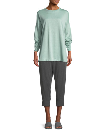 Terry Side-Slit Bateau-Neck Top and Matching Items