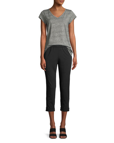 Slim Organic Cotton Jersey Cropped Pants and Matching Items