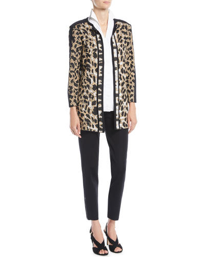 Animal-Print Long Jacket  and Matching Items