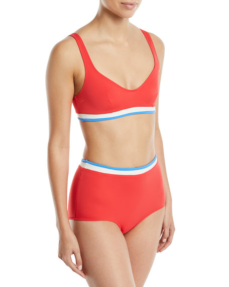 The Katie Colorblock Bikini Swim Top