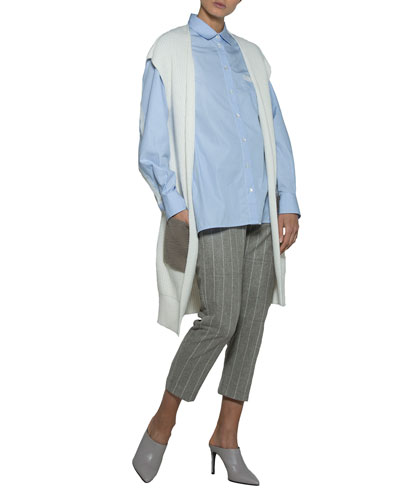 Open-Front Cardigan with Shearling Pockets and Matching Items