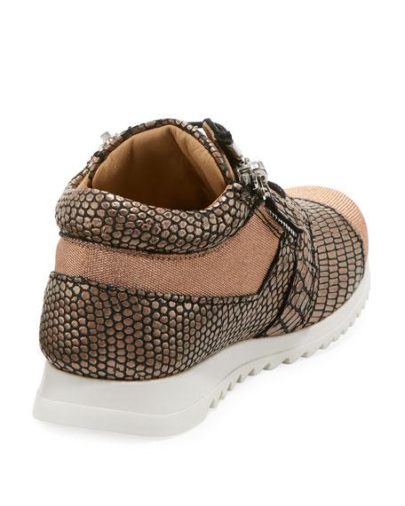 Mixed Media Glitter Neoprene Sneakers, Toddler/Kids