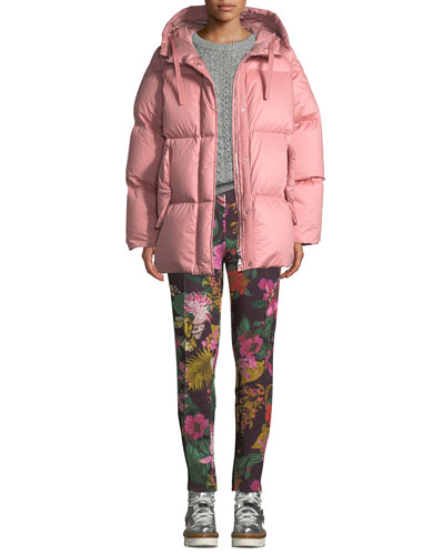 Floral-Print Straight-Leg Track Pants and Matching Items