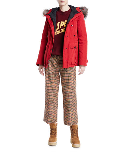 Macareux Parka Coat w/ Removable Fur Trim and Matching Items