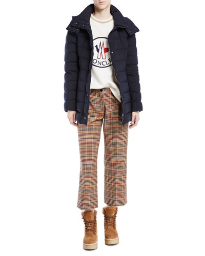 Harelde Channel-Quilted Coat and Matching Items