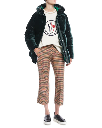 Butor Velvet Puffer Coat and Matching Items
