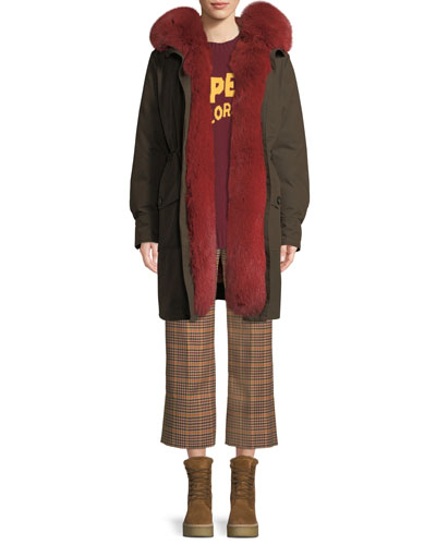Hypolais Trench Coat w/ Fur Lining and Matching Items