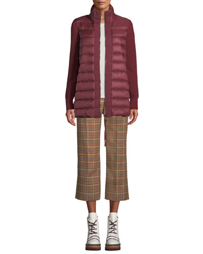 Maglione Quilted Long Tricot Cardigan Jacket and Matching Items