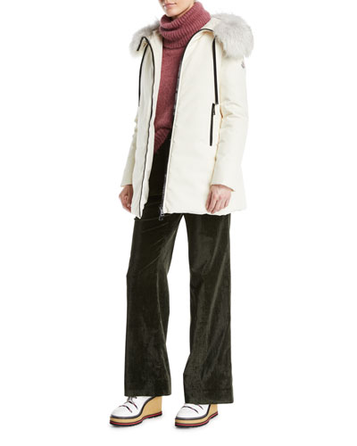 Bartamifur Coat w/ Removable Fur-Trim Hood and Matching Items