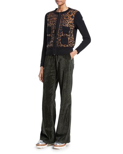 Alla Coreana Leopard-Print Zip Cardigan Sweater and Matching Items