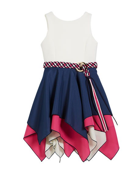 Piper Handkerchief-Hem Swing Dress, Size 4-6X