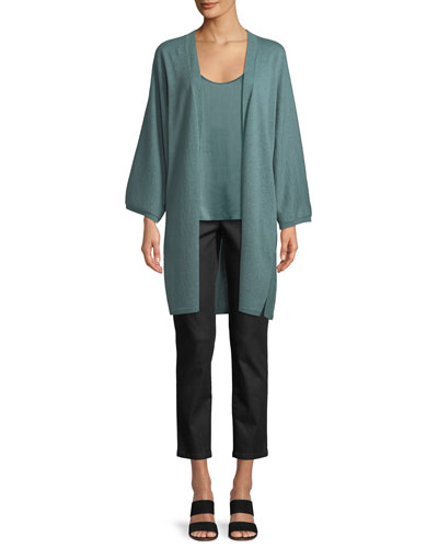 Italian Cashmere Long Kimono Cardigan  and Matching Items