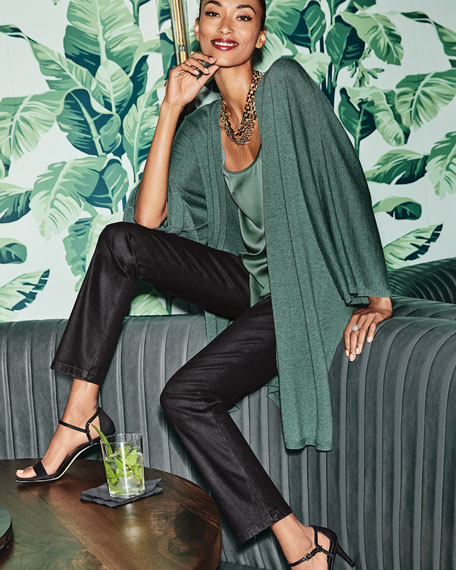 Silk Charmeuse Cami Top, Plus Size