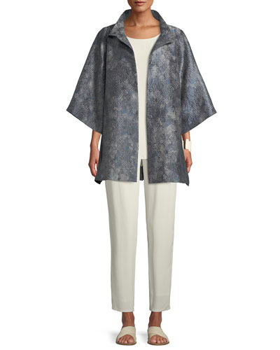 Cosmos Jacquard 3/4-Sleeve Jacket, Plus Size and Matching Items