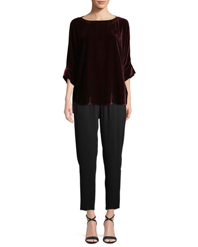 Dolman-Sleeve Velvet Top and Matching Items